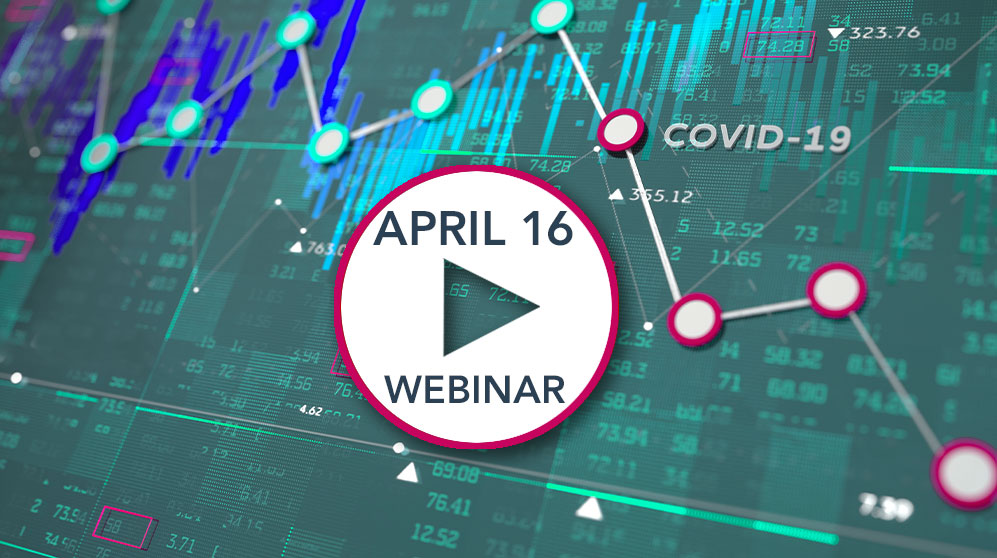 video graphic showing chart of the markets for the april 16 webinar