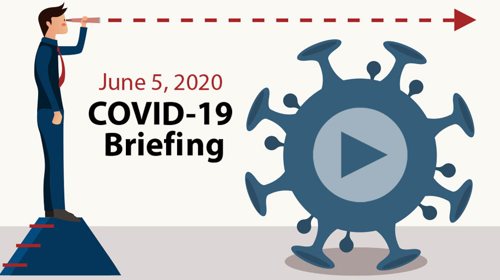 AMG webinar - looking past COVID-19 with video play button
