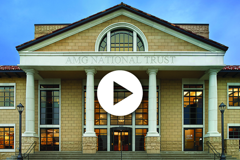 AMG overview video - AMG building with video play button