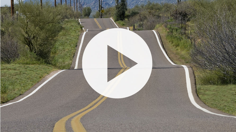 Assessing the Road Ahead webinar video: photo of hilly country road