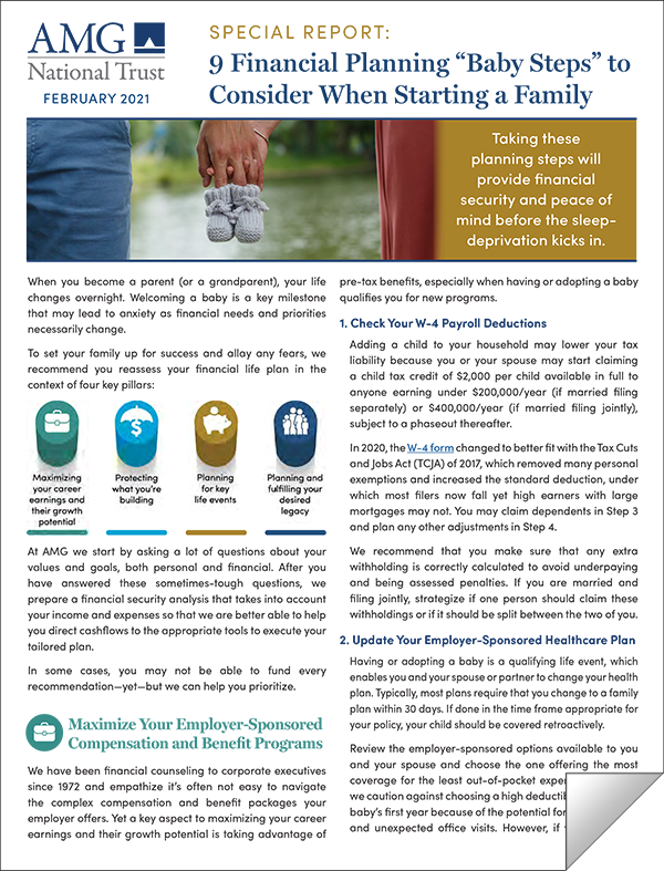 Family Financial Planning Report Cover