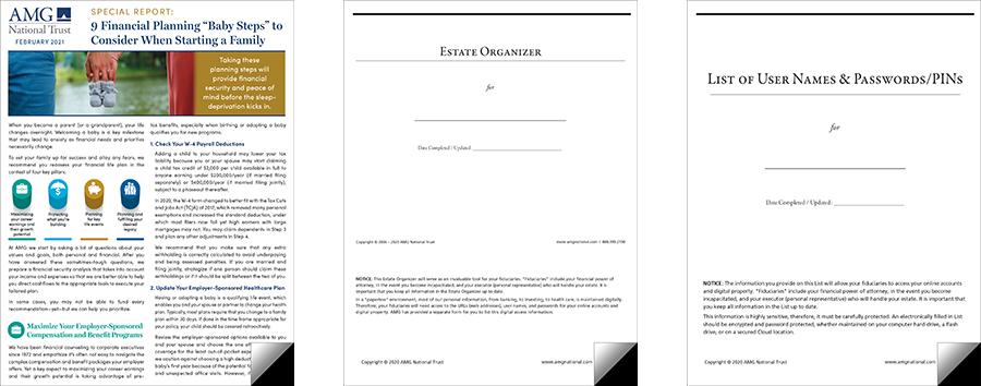 Three financial planning resources